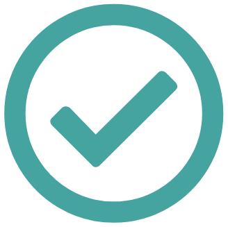 Icon mit Haken zur Symbolisierung von Nutzen