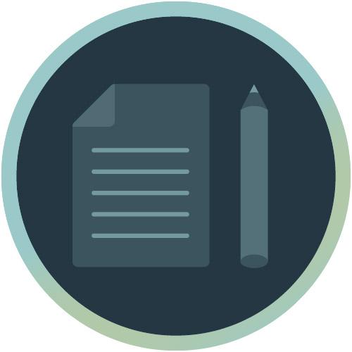 Icon für Inhaltskonzept und Informationsarchitektur