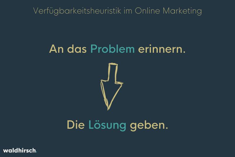 Eine Grafik zur Darstellung der Wichtigkeit von der Problem-Nennung im Marketing