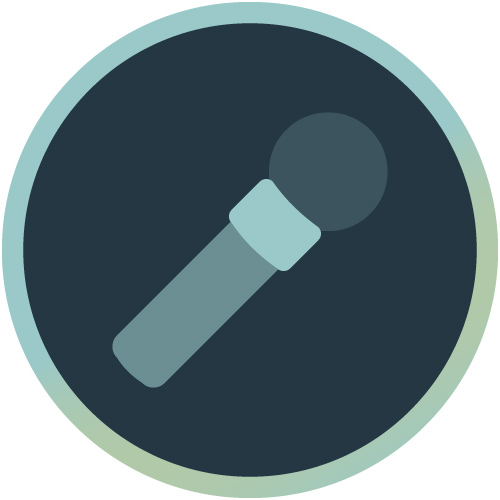 Icon mit Mikrofon symbolisiert Speaker Online Marketing
