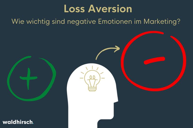 Bild mit einem Minus und einem Plus zur Darstellung der Wichtigkeit von negativen Emotionen im Neuromarketing