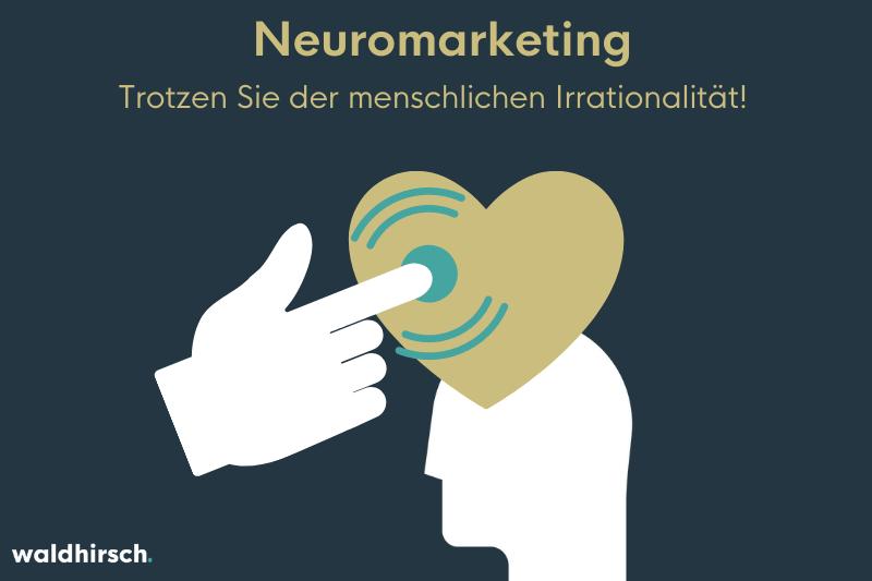 Grafik mit einer Hand die auf ein Herz im Kundenkopf drückt
