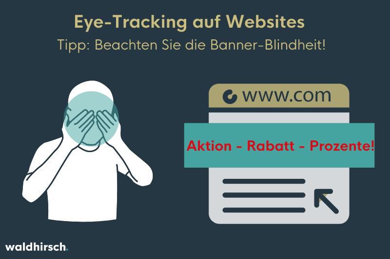 Grafik zur Darstellung von Banner-Blindheit