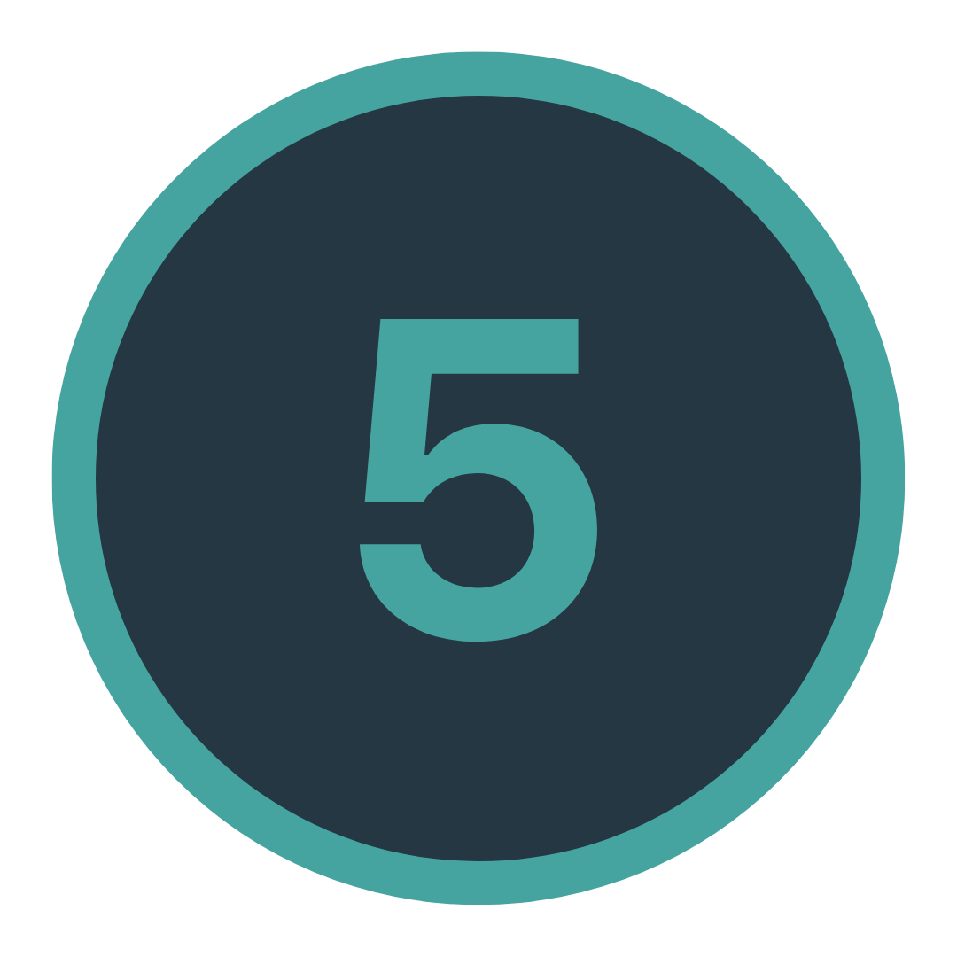 Icon mit einer Fünf